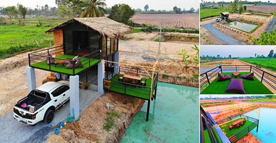 ไอเดียสร้างบ้านสวน (งบ 350,000 บาท) เอาไว้พักผ่อนท่ามกลางธรรมชาติ สวยงามเกินบรรยาย