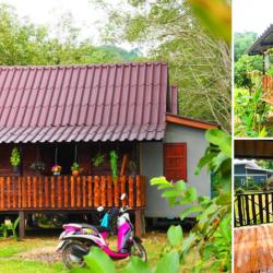 สุขสงบท่ามกลางธรรมชาติ บ้านไม้ชั้นเดียวยกพื้น 1 ห้องนอน 1 ห้องน้ำ งบประมาณ 250,000 บาท เหมาะสร้างไว้พักผ่อนในสวน